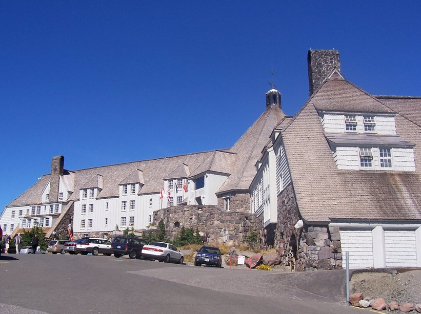 Timberline Lodge was built in 1938 and is a National Historic Landmark.