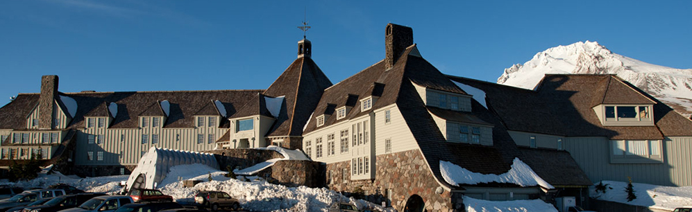 Exterior view of Timberline Lodge