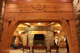 The lodge features many interesting design elements including this arch.