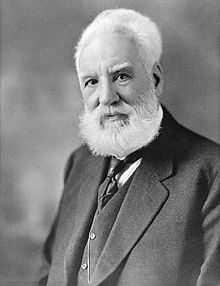 Alexander Graham Bell, late 1910s, by Moffett Studio courtesy of Library and Archives Canada and Wikimedia Commons (public domain)