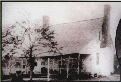 The Huckleberry farm house around the time of the Lincoln assassination.  Owner Thomas Jones saw it as his honorable duty to help fellow Confederate John Wilkes Booth escape.