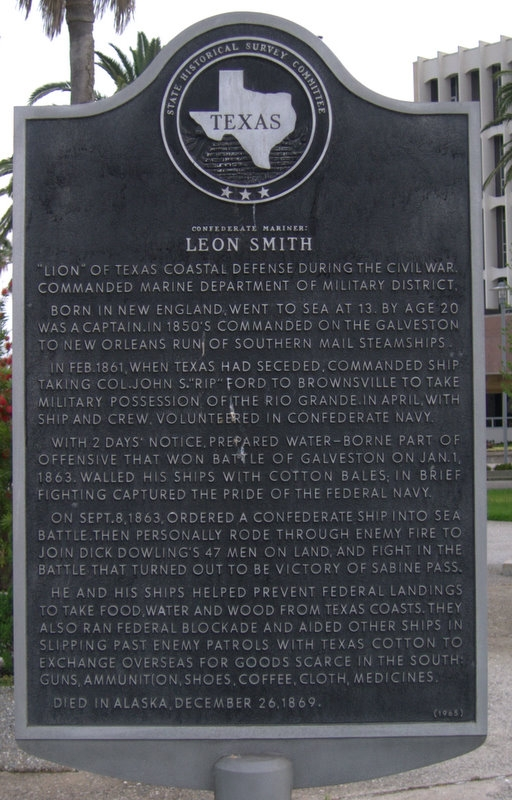 Picture of Confederate Mariner: Leon Smith Historical Marker