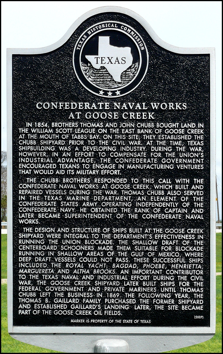 Picture of Confederate Naval Works at Goose Creek Historical Marker Picture taken by Jim Evans, March 17, 2012