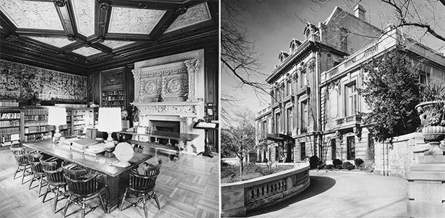 Mid-20th century photos of the club and its study room