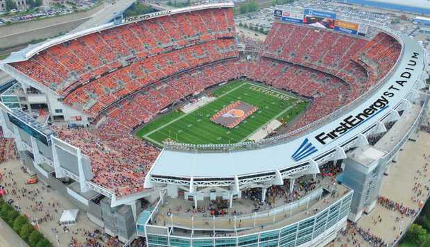 FirstEnergy Stadium is located along the lakefront in downtown Cleveland, Ohio and is home to the NFL's Cleveland Browns.