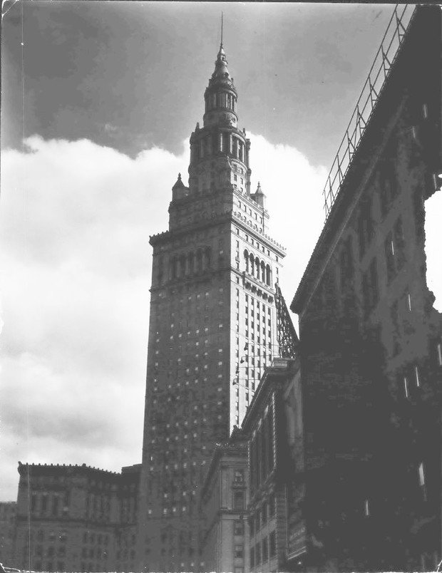 The Terminal Tower, circa 1930. From The Plain Dealer Historical Photograph Collection via Cleveland.com.