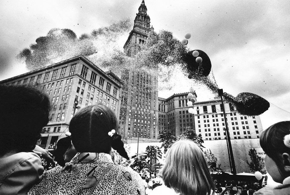 """Balloonfest"" in 1986. From The Plain Dealer via Cleveland.com."