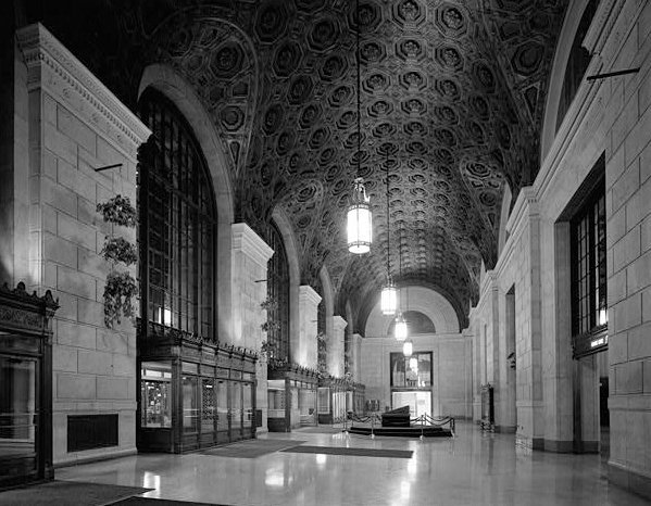 Inside the Terminal Tower. From the Plain Dealer via Cleveland.com.
