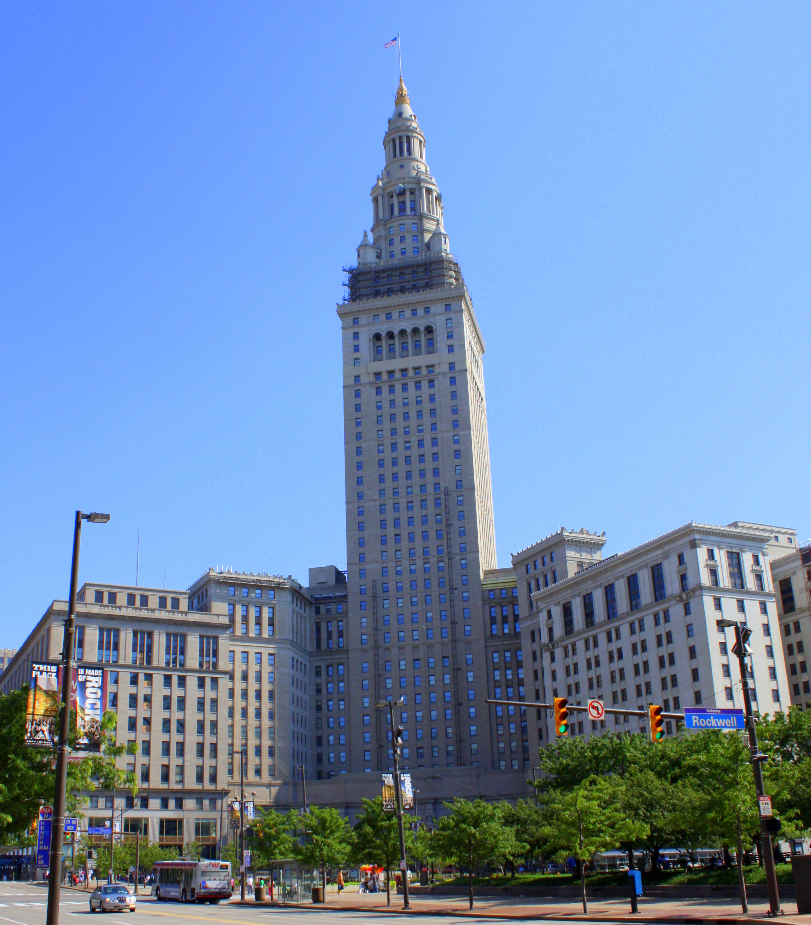 Terminal Tower in downtown Cleveland is the most recognizable part of the city's skyline.