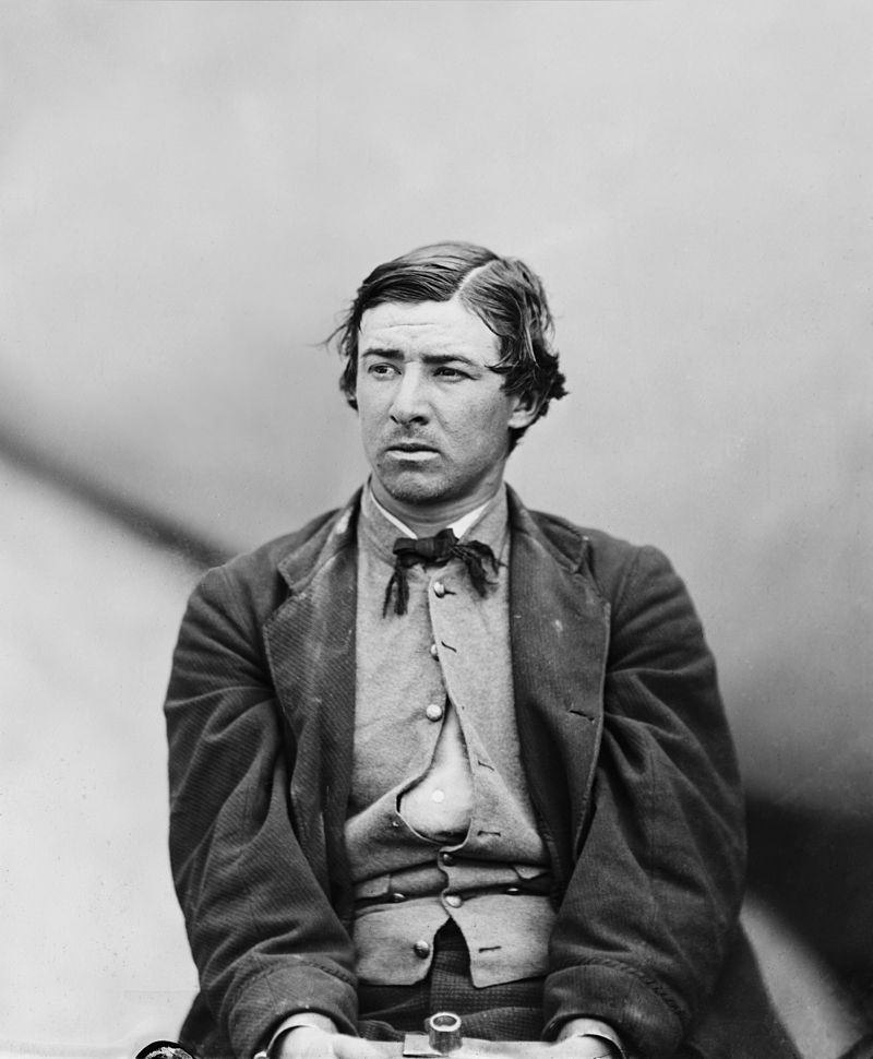 David Herold while under arrest at the Washington Naval Yard in 1865