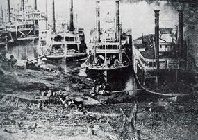 Steamboats at Pittsburg Landing