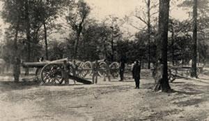 Union Siege Guns on Grant's Last Line