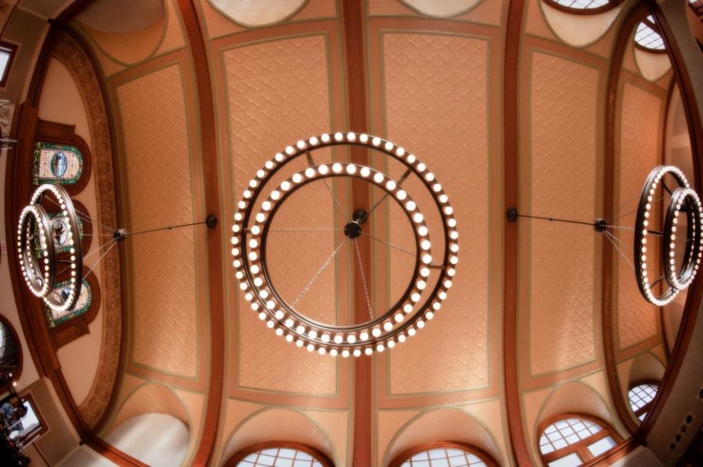 Ashton Depot ceiling.