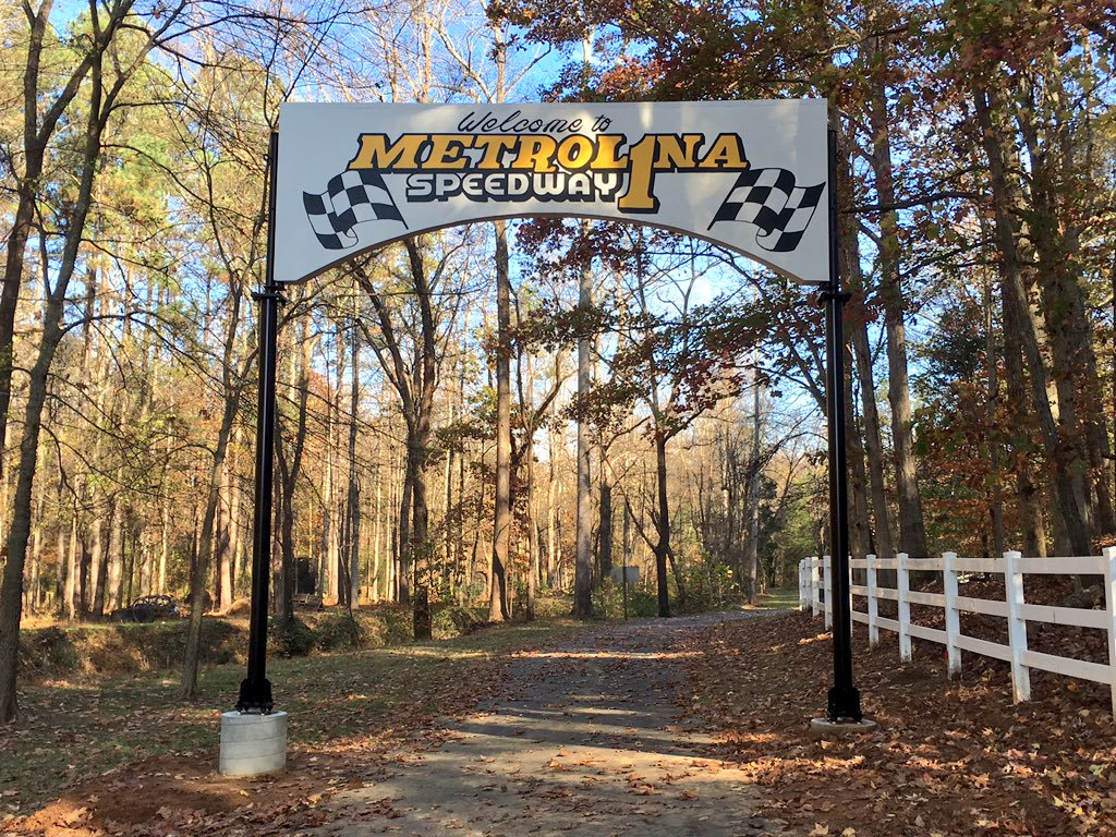 Original Metrolina Gate; Restored by Dale Jr. (2015) (Not on Metrolina property)
