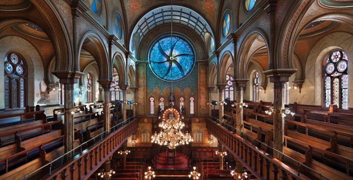 Eldridge Street Synagogue's main sanctuary
