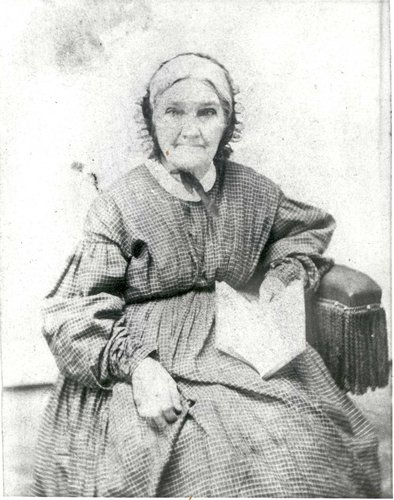 This is a portrait of Sarah Mary Benjamin, considered to be a Revolutionary War Heroine.