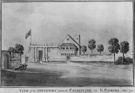 The building as it appeared in 1764.