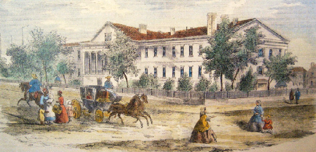 Circa 1850s painting of the Mint