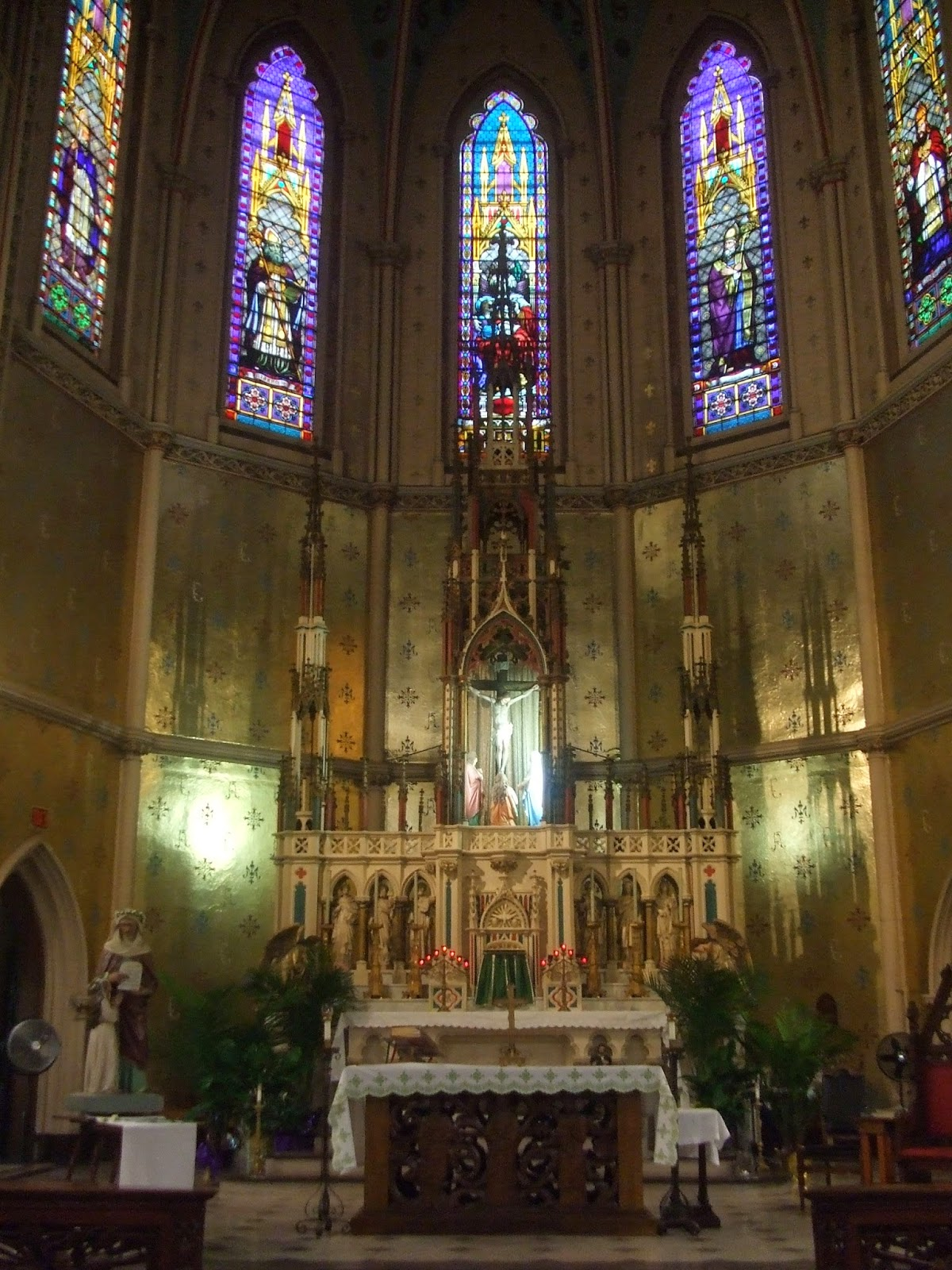 The altar at Ste. Anne's