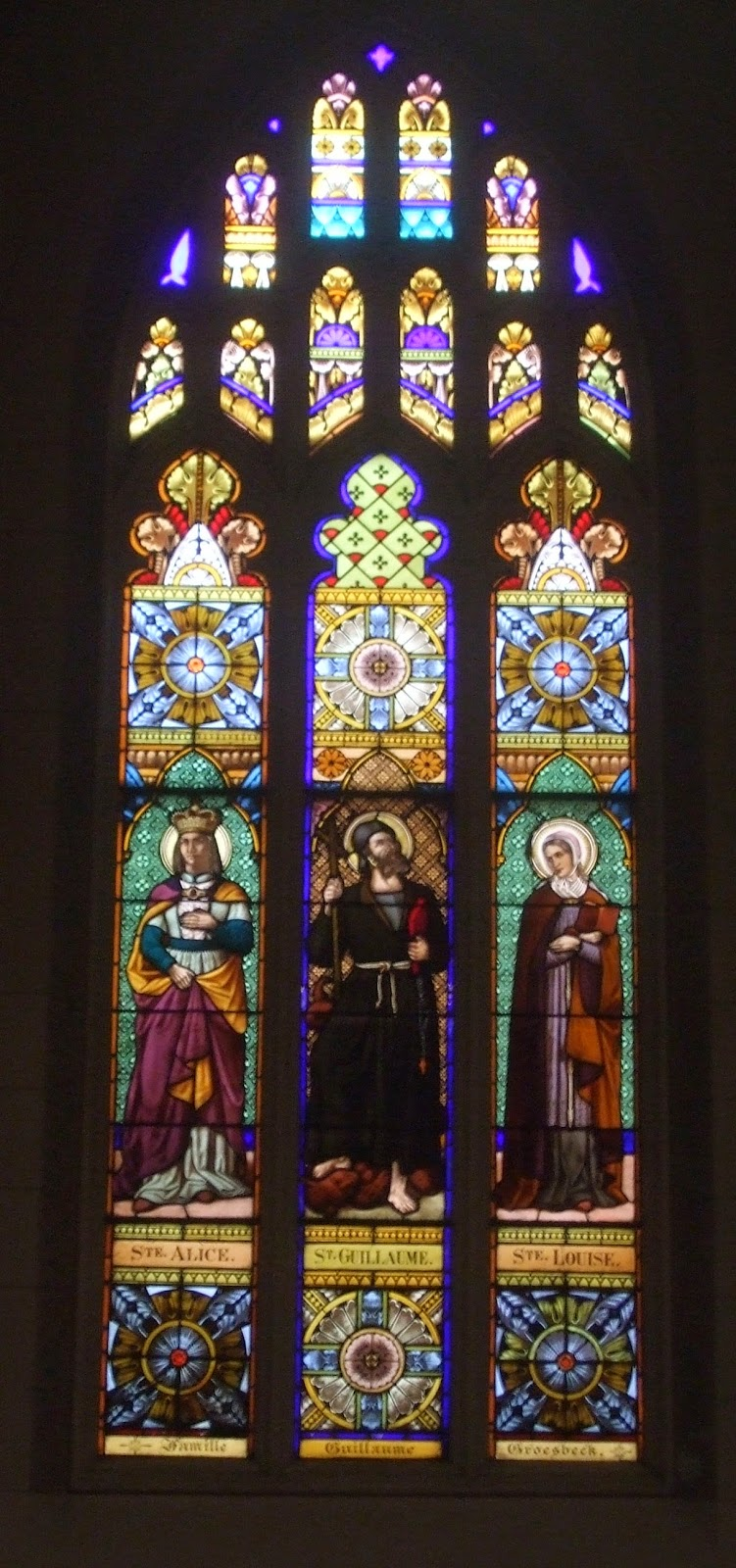 The church's stained glass windows are the oldest in the city