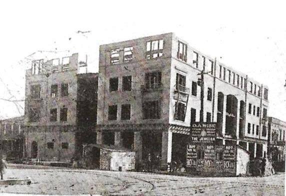 The hotel under construction, circa 1912