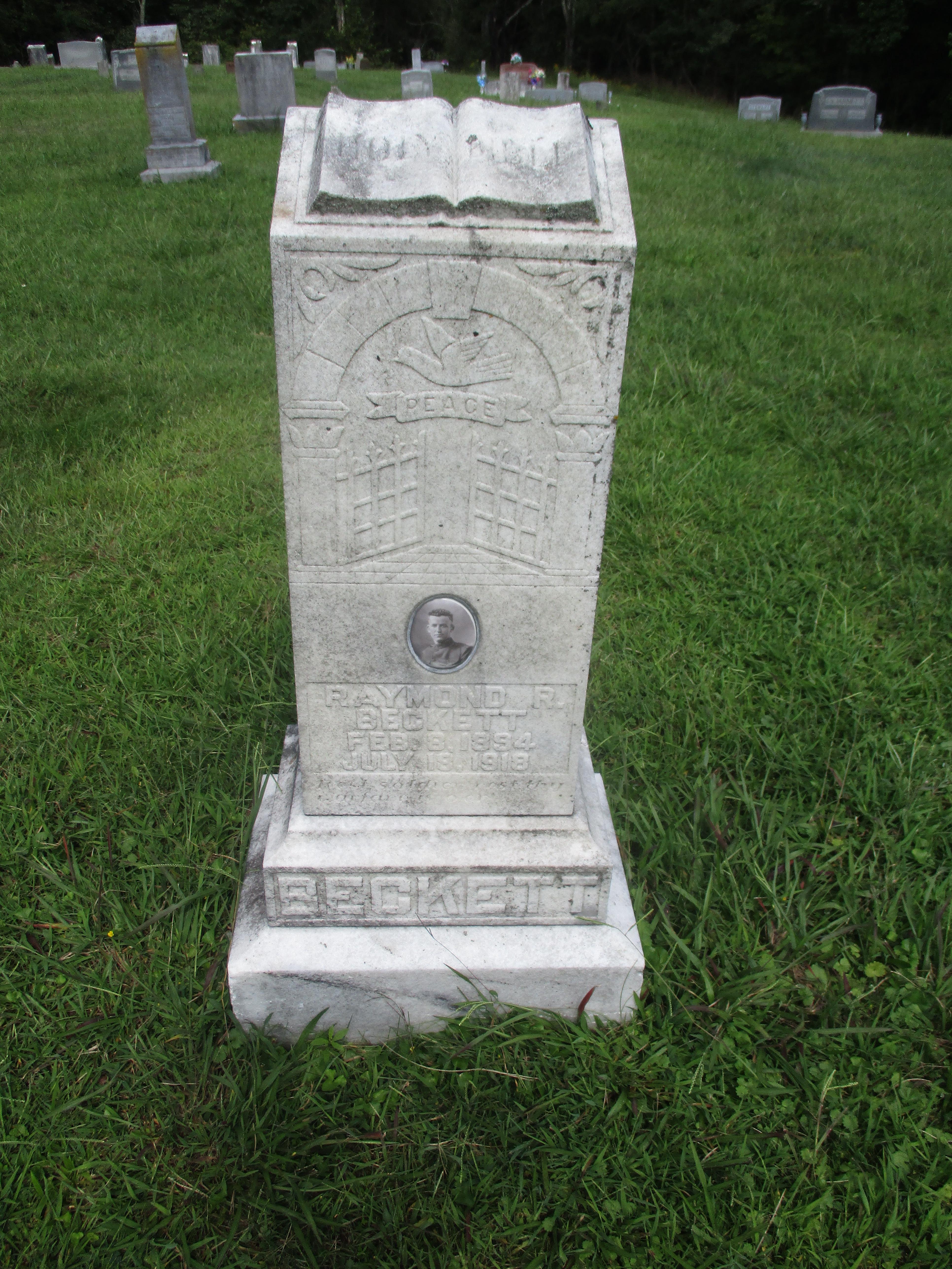 Headstone at Enon Cemetery