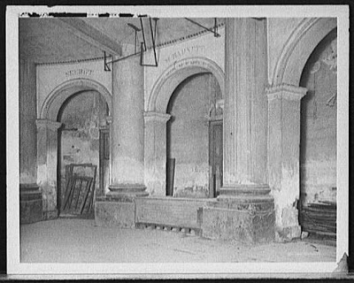 Undated photo of the slave auction block that was located in the hotel