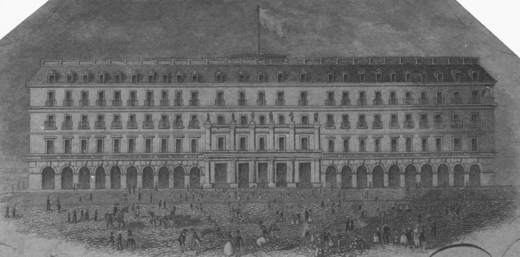 Sketch of the hotel in 1834