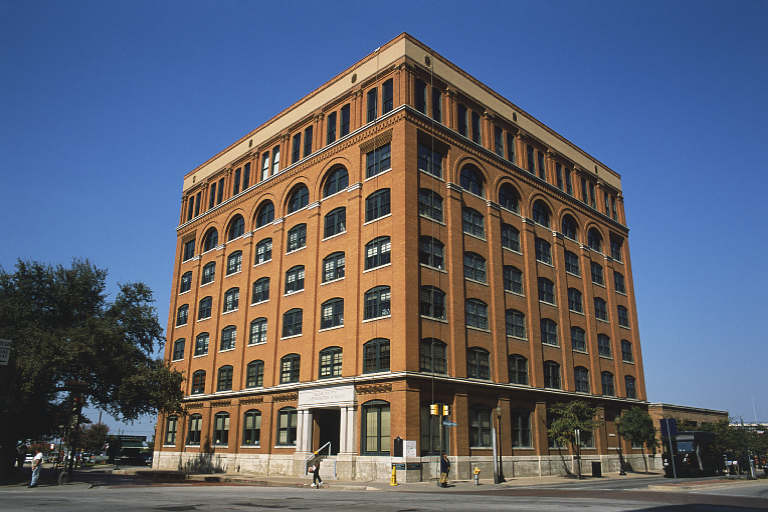 The museum, formerly the Texas Book Depository