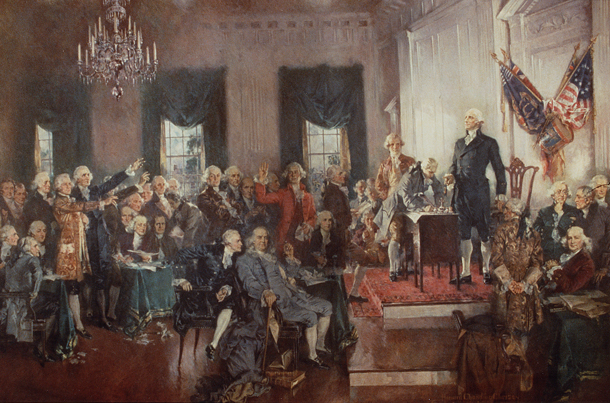 Scenes at the Signing of the Constitution of the United States