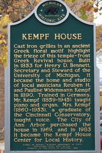 Kempf House Historical Marker