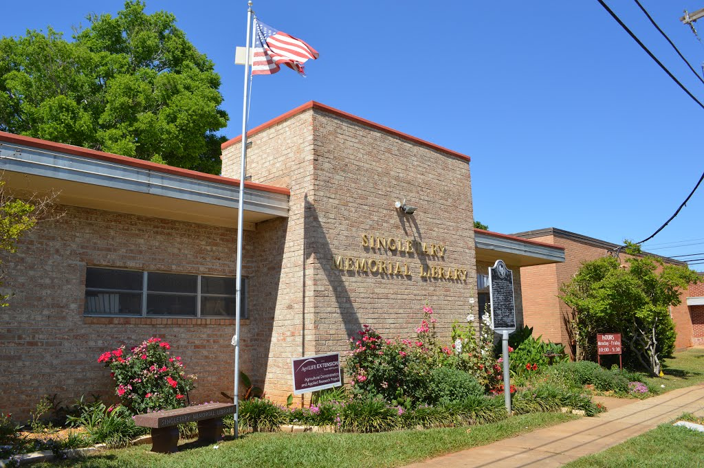 The Singletary Memorial Library in Rusk, Texas, received the Bachelor Girls Library Club book collection in 1969, creating the foundation for this public library's holdings.