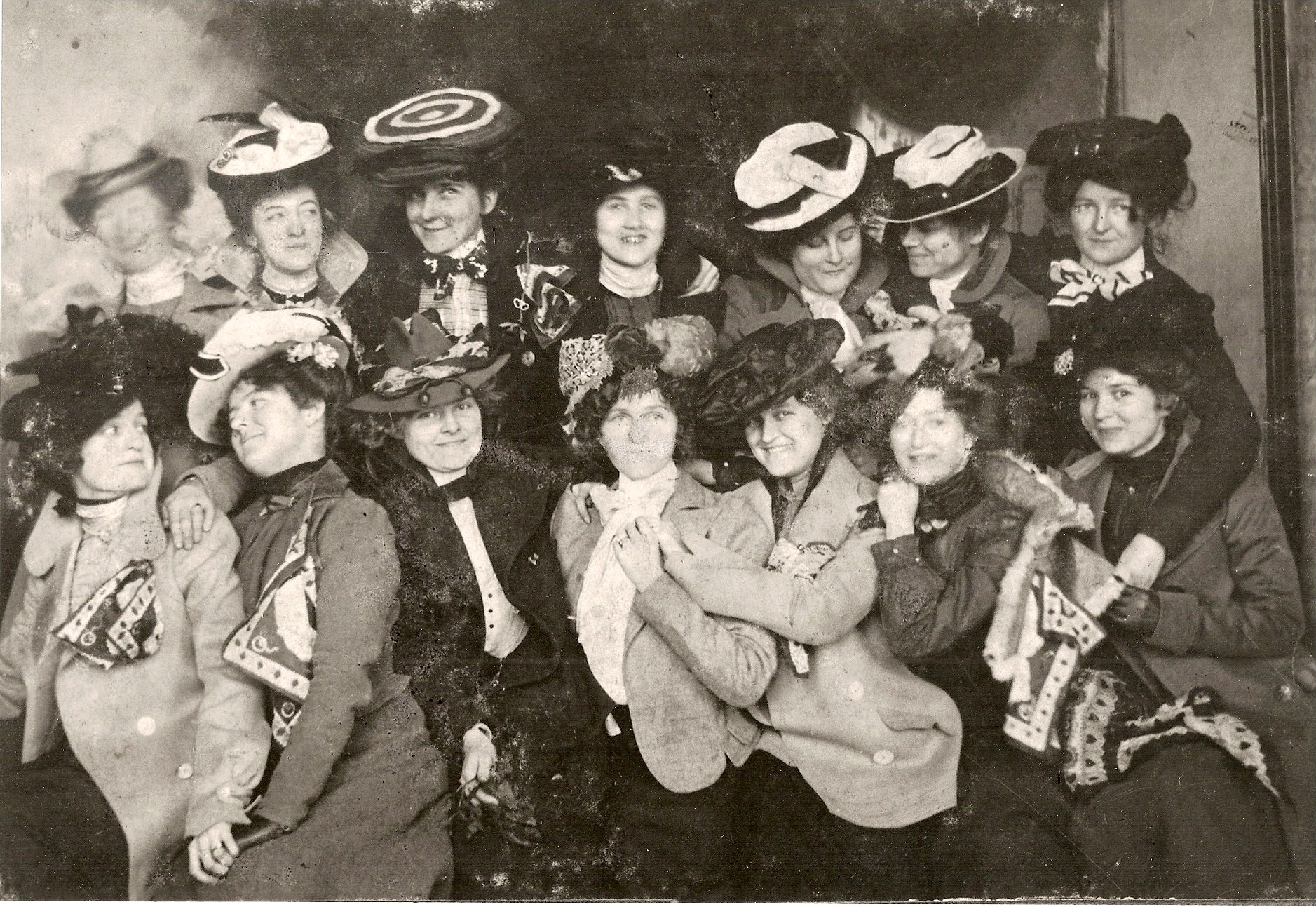 Early members of the Bachelor Girl's Library Club, later named the Maids and Matrons Library Club after several members married and continued their membership in the club.