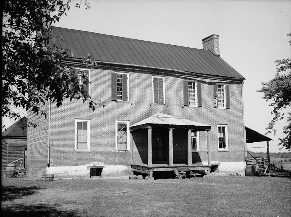 A photograph of the home. Date unknown.