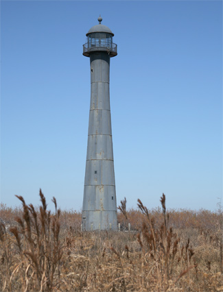 The Matagorda Island light as it appeared in 2009.