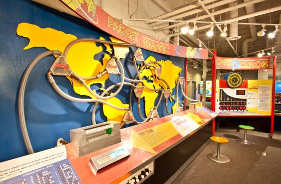 The Legacy Gallery features an exhibit on how the internet works