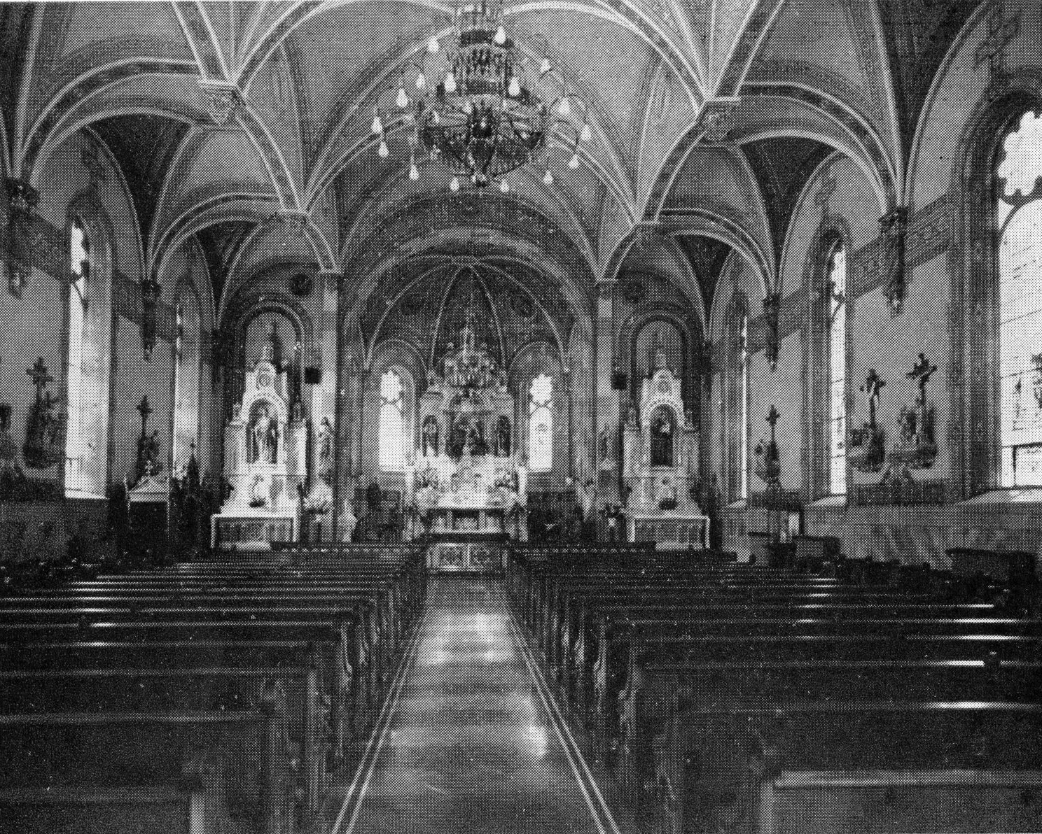 Interior of St. Mary of the Visitation Church.