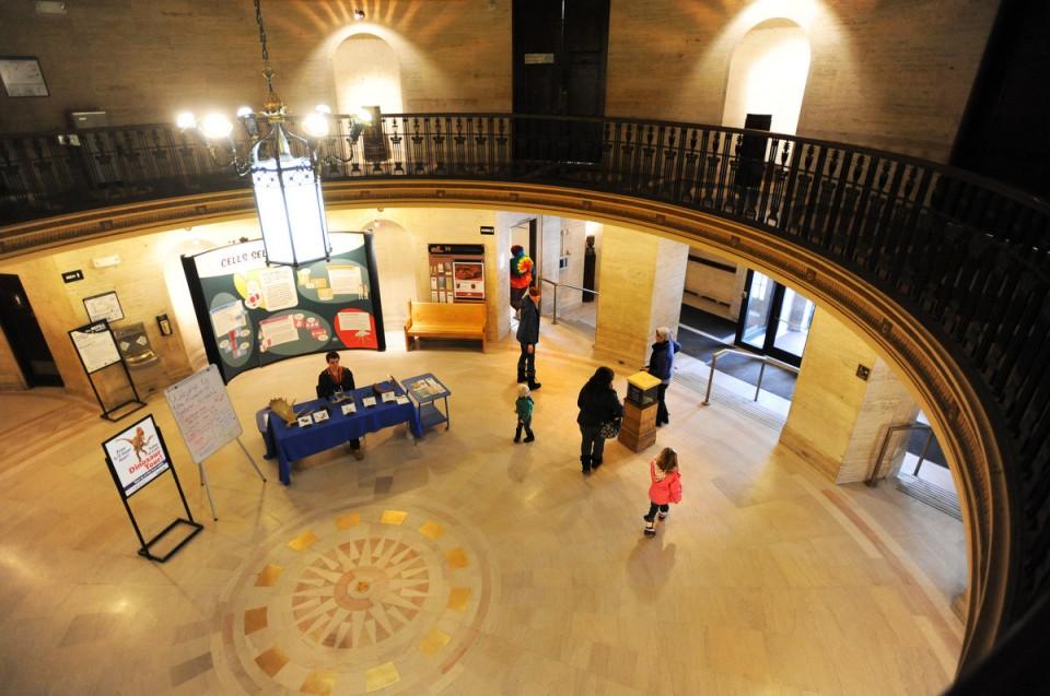 The museum's rotunda and lobby