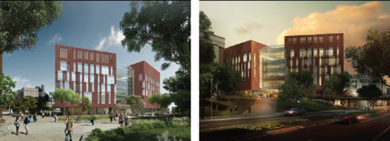 The new facility that will house the UMMNH will be seven floors tall and 300,000 square feet