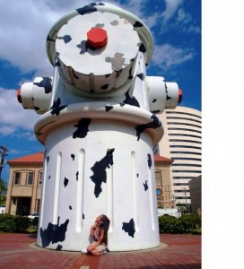 The world's largest fire hydrant is on permanent display at the Fire Museum of Texas in Beaumont.