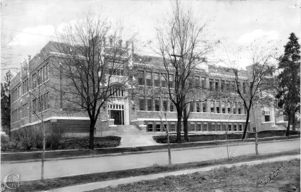 Cheney High School, now called the Fisher Building