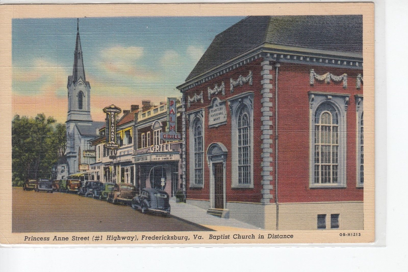(Circa 1930s-1940s) Postcard depicting the Planters National Bank, which now houses the FAMCC