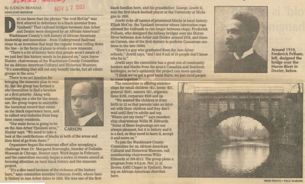 Article announcing the creation of the museum in 1993