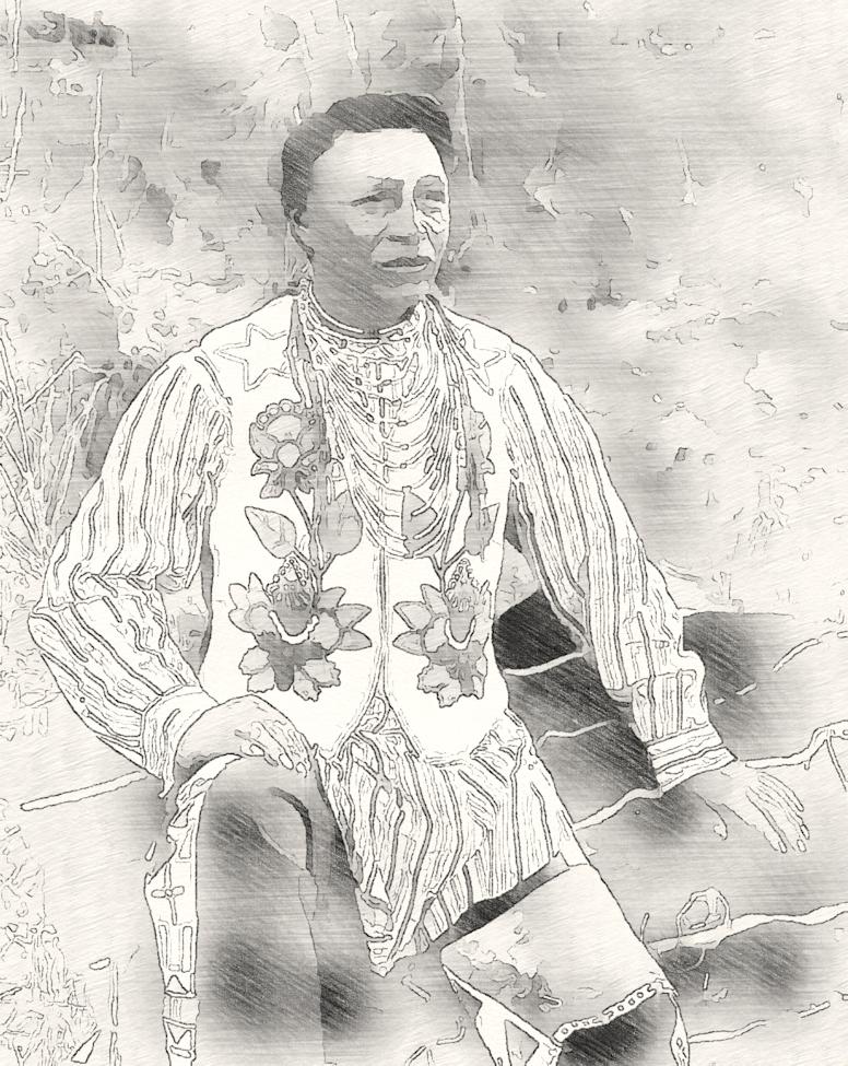 Sketch of Spokane man