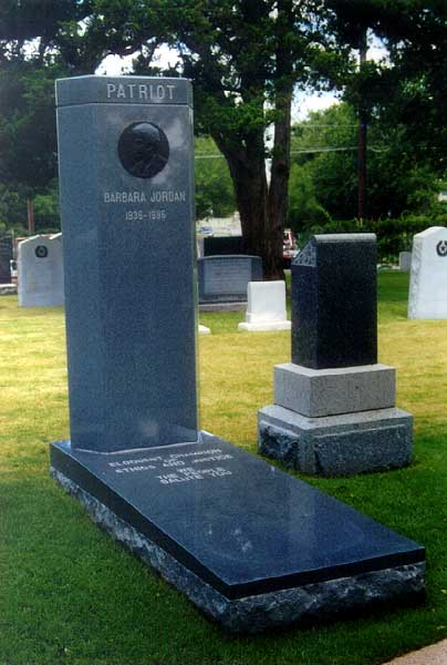 Barbara Jordan's gravesite can be found in the Republic Hill section 1 on Row N