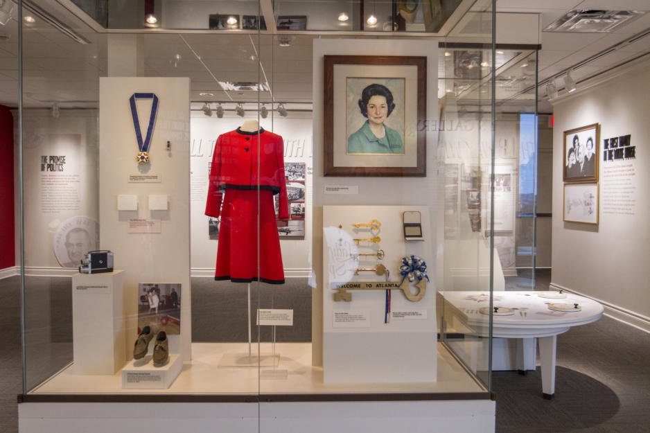 Clothes Lady Bird Johnson wore as first lady, as well as other artifacts from her life