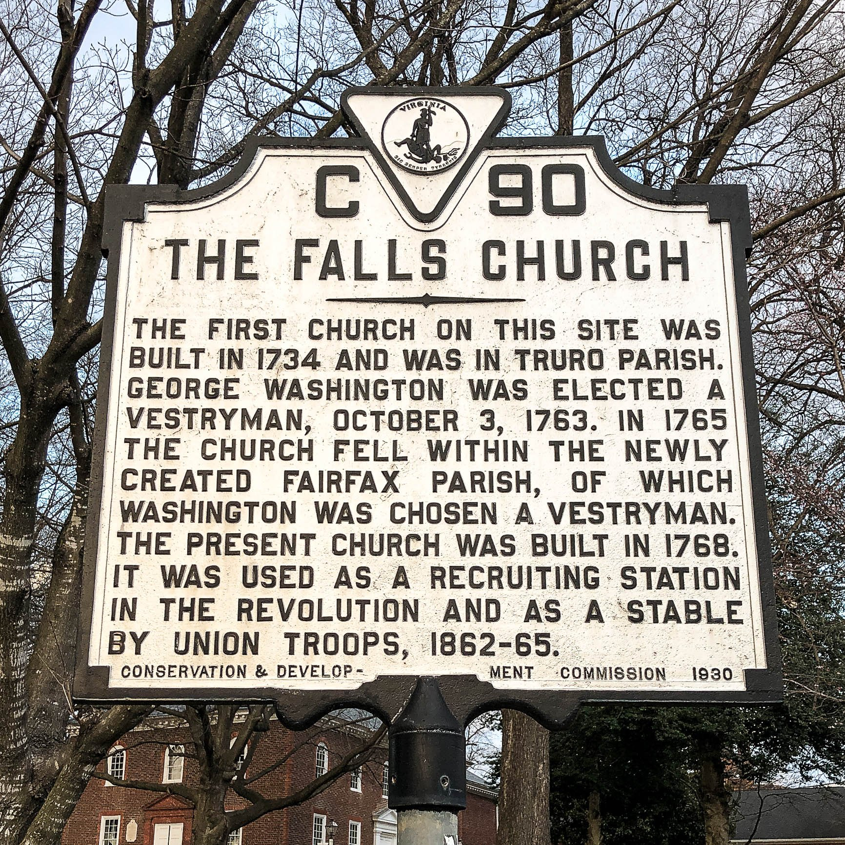 The Falls Church historical marker