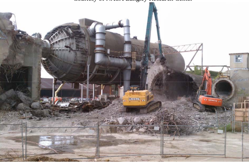 Demolition of Building 641.The Eight-Foot High Speed Wind Tunnel was removed from the list of National Historic Landmarks after its demolition.
