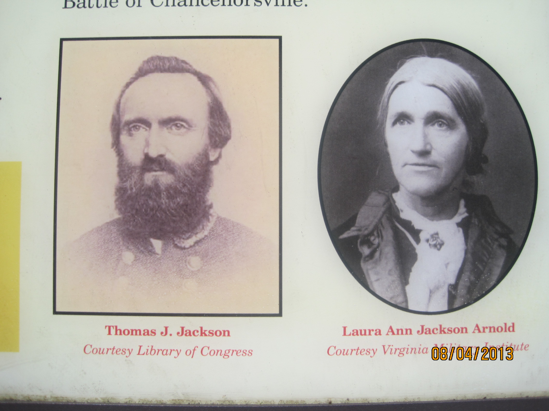 "Thomas ""Stonewall"" Jackson and his sister Laura."