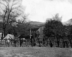 April 1865, Soldiers outside of Appomattox Court House